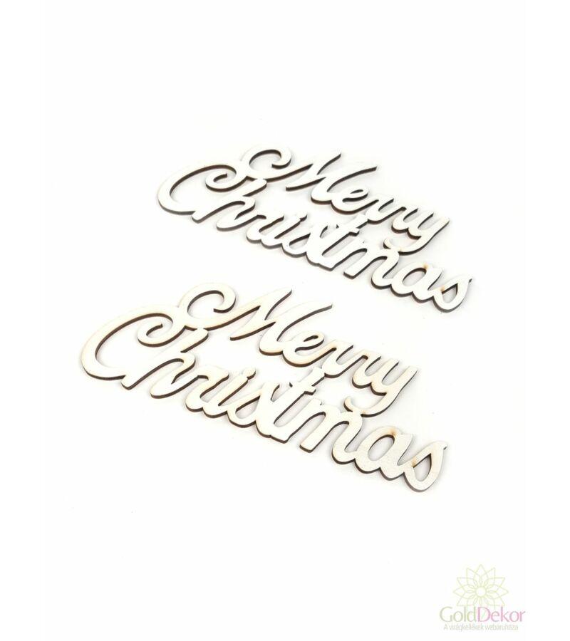 Fa felírat nagy MERRY CHRISTMAS - Fehér
