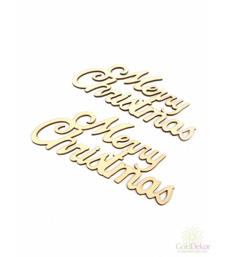 Fa felírat nagy MERRY CHRISTMAS - Natúr