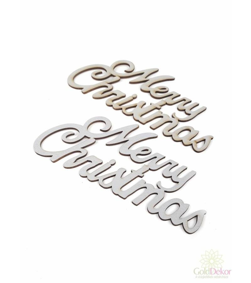 Fa felírat nagy MERRY CHRISTMAS - Szürke