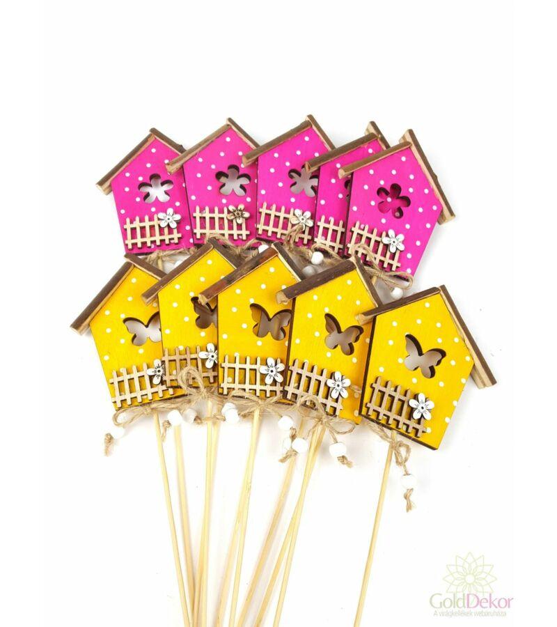 Pöttyös házikó betűző*10 - Sárga-Pink
