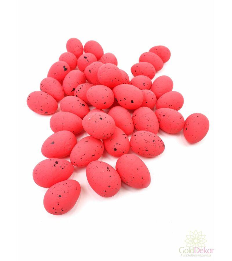 Színes hungarocell tojás 4 cm*40 - Piros