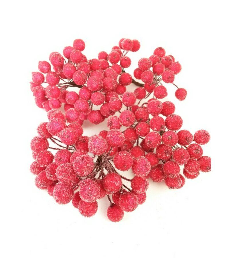 Csillámos drótos bogyó - Piros
