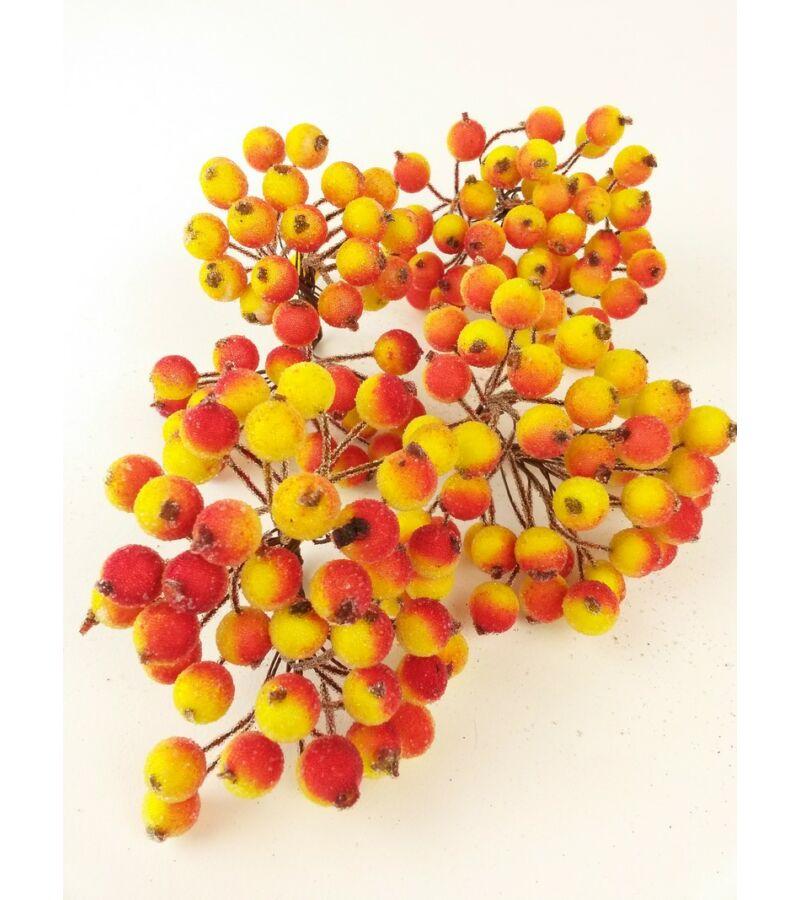 Csillámos drótos bogyó - Narancs