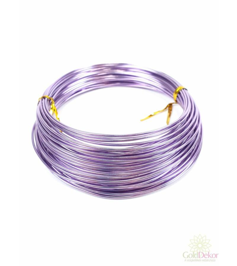 Aluminium dekor drót - Világos lila