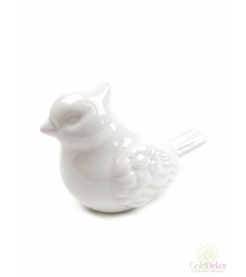 Kerámia búbos madár - Fehér