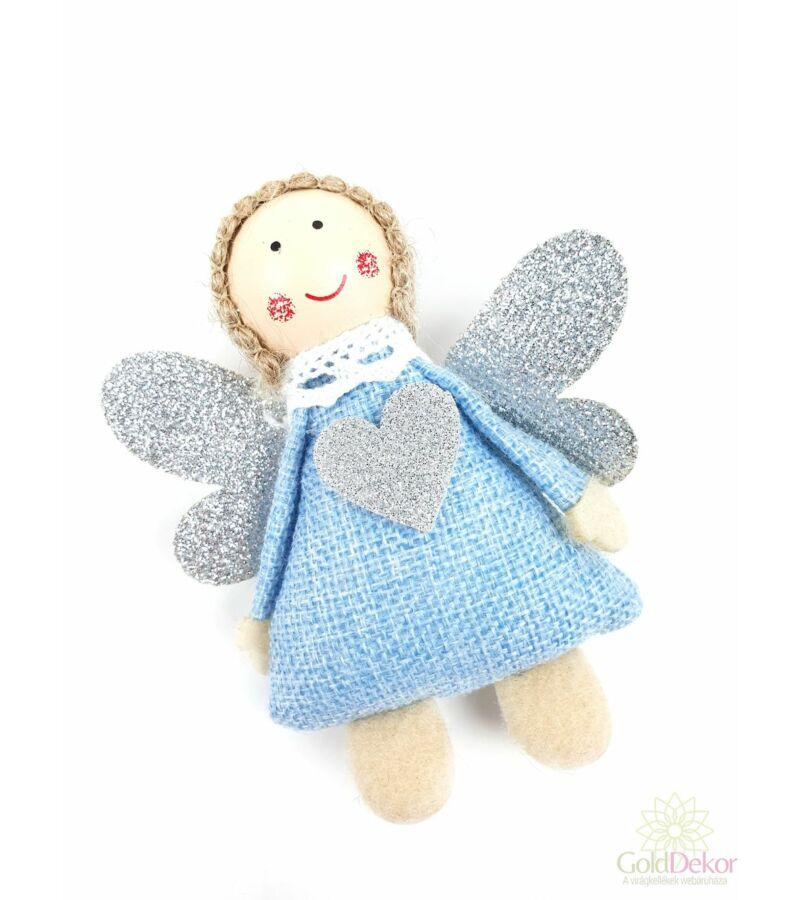Ezüst szárnyú zsák angyalka - Kék