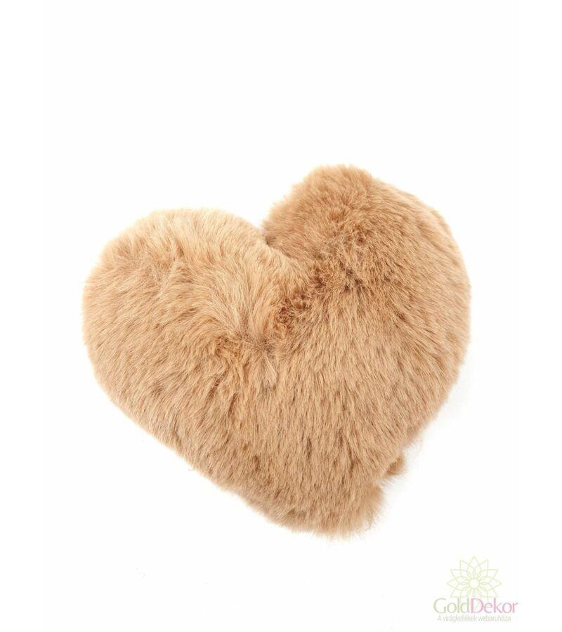 Plüss szív - Barna