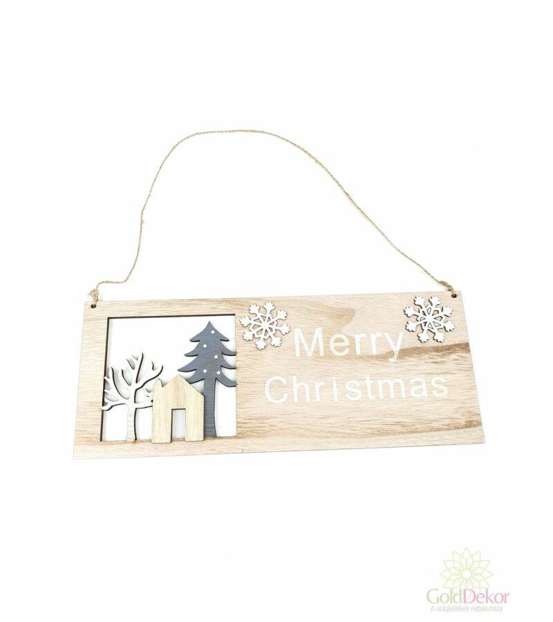 Akasztós karácsonyi tábla - Merry Christmas