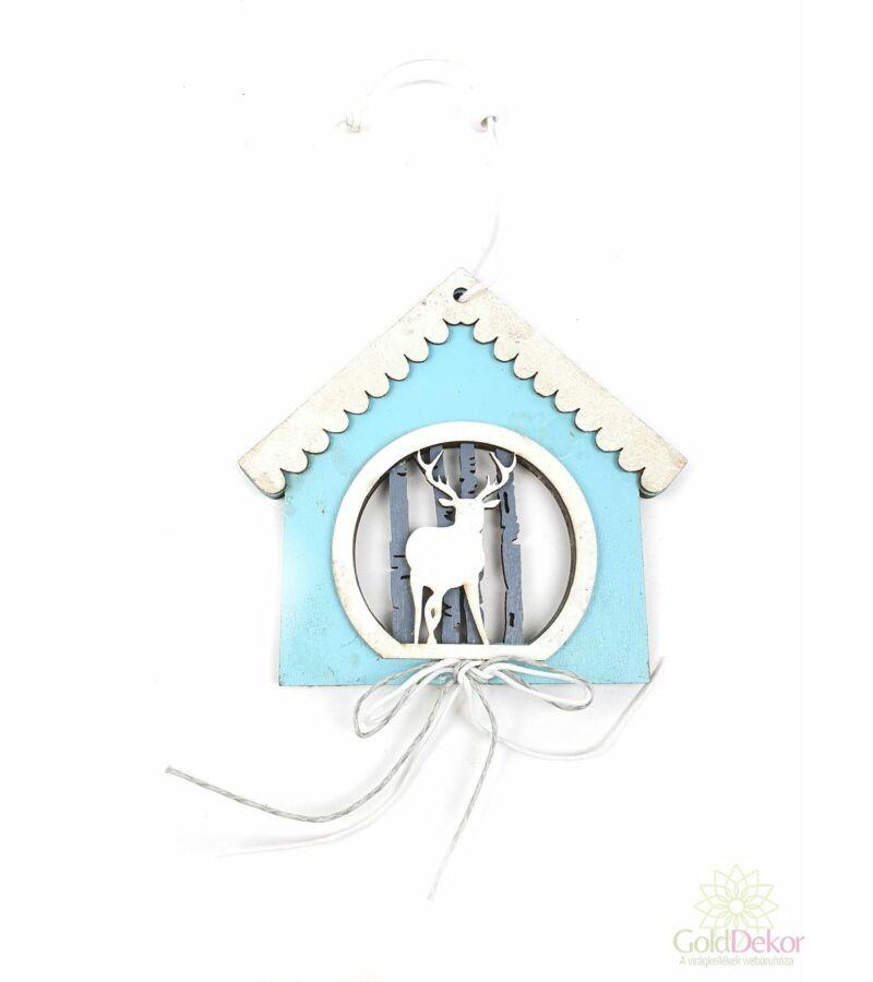 Havas fa ház szarvassal - Kék