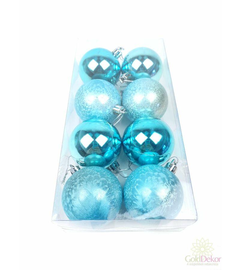 Karácsonyi gömb fényes-matt 5 cm - Kék