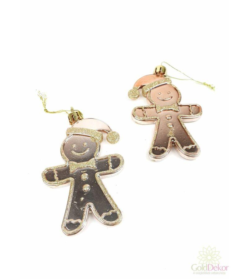 Akasztós mézeskalács figura*2 - Rosegold