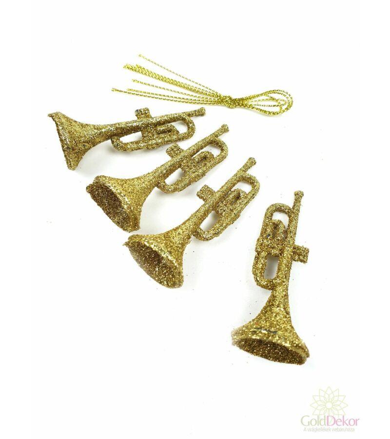 Csillámos műanyag hangszer - Trombita