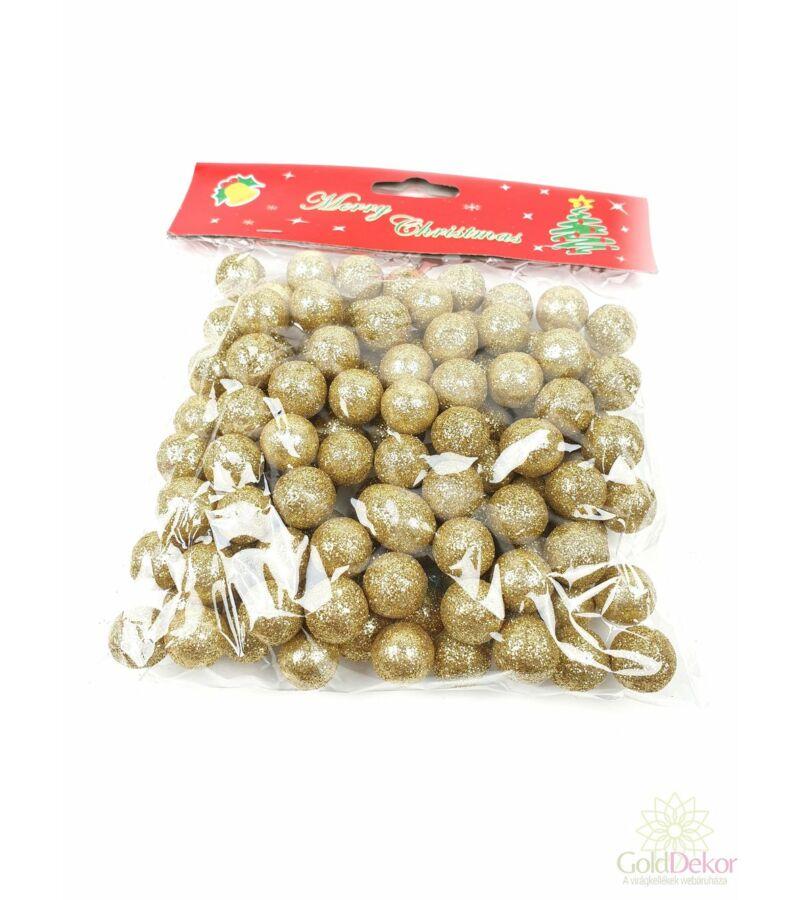 Glitteres golyó 1,5 cm - Arany