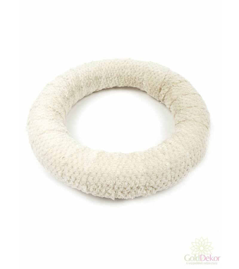 Kötött szőrmés alap 24 cm - Tört Fehér