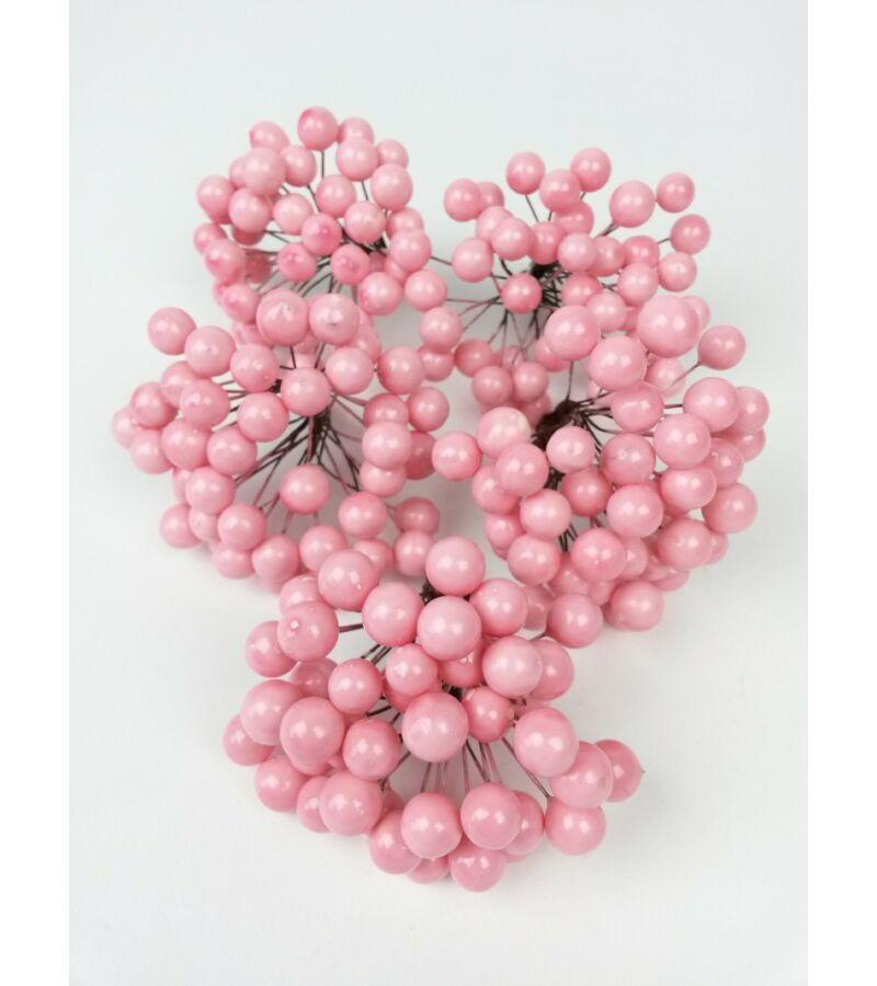 Drótos bogyó 1 cm - Rózsaszín