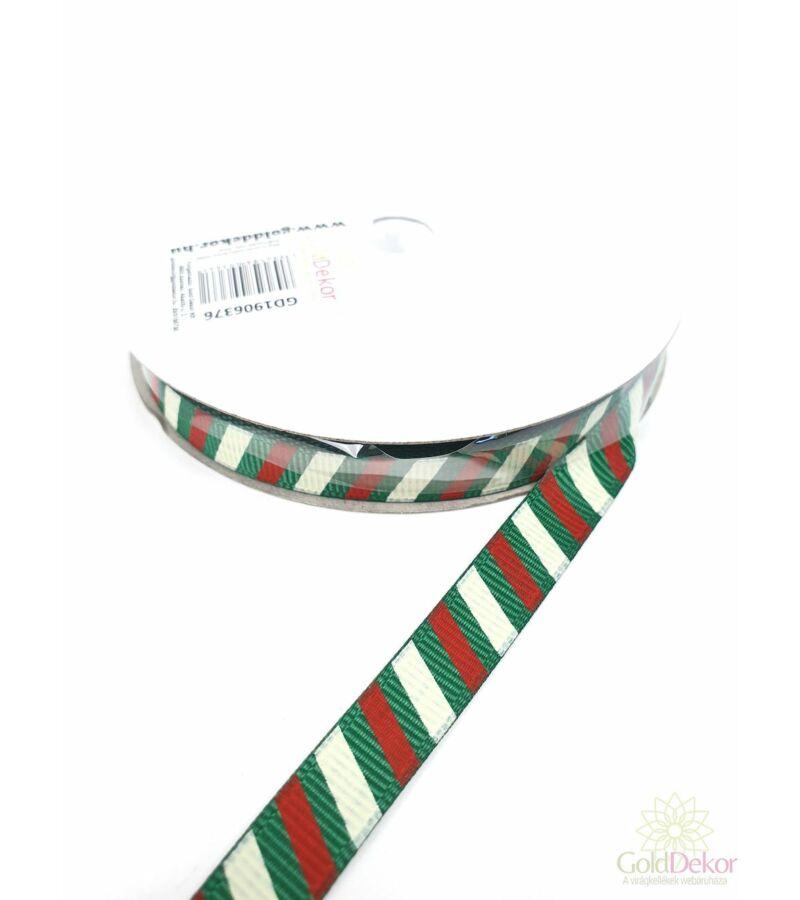 Karácsonyi szalag 1 cm - Csíkos