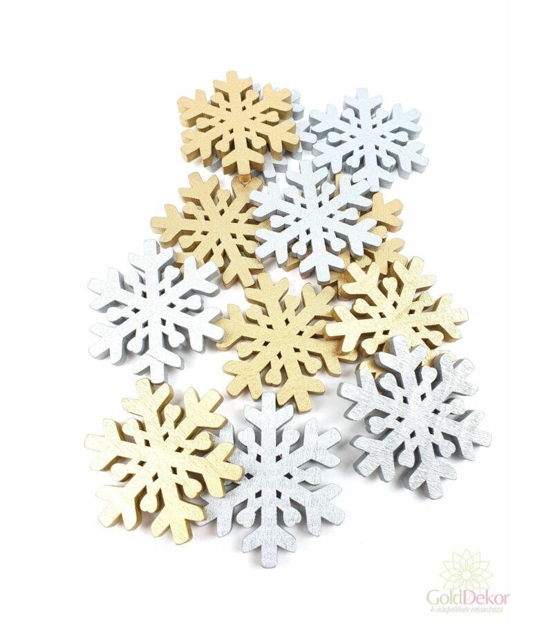 Fadekor  5 cm hópehely mix