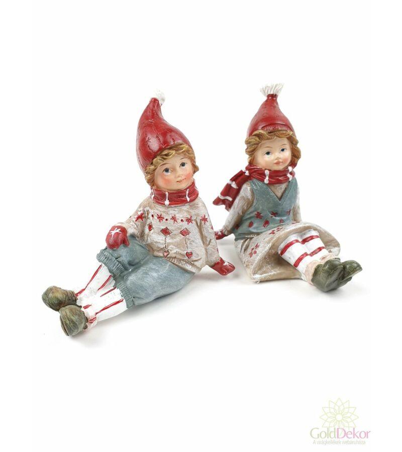 Karácsonyi gyermek figura - Ülő