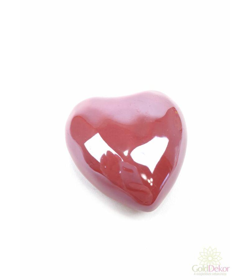 Gyöngyházas szív 5,5 cm - Mályva