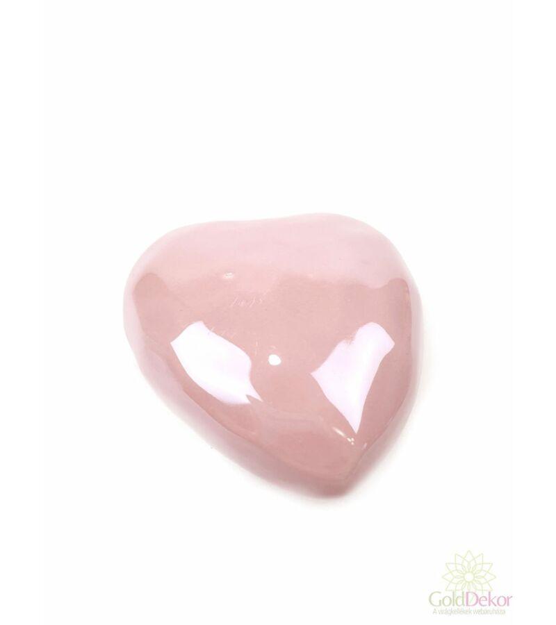 Gyöngyházas szív 7,5 cm - Púder