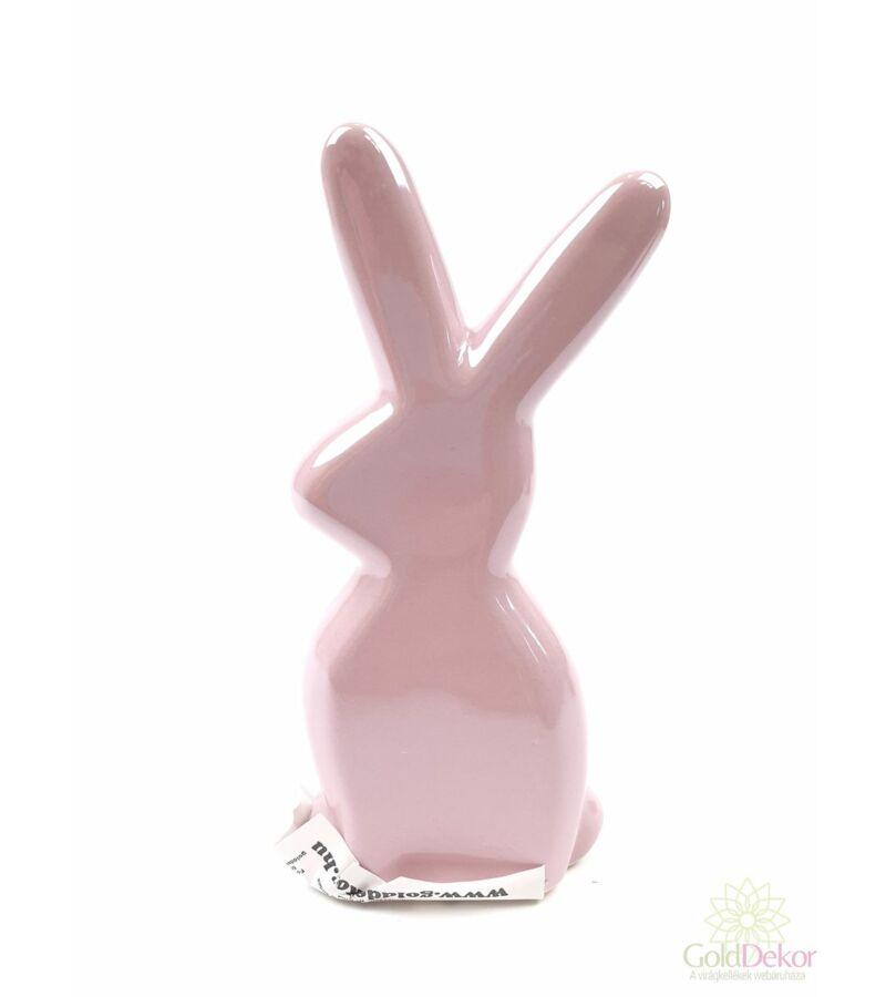 Gyöngyházas nyuszi figura*12 cm - Rózsaszín