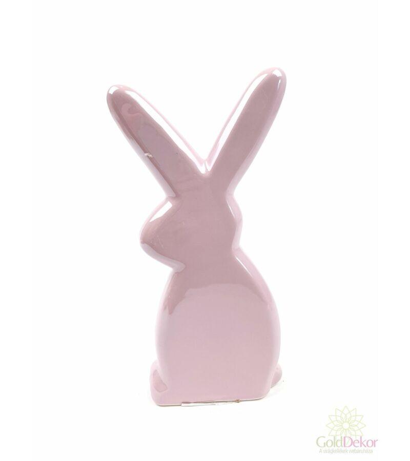 Gyöngyházas nyuszi figura*21 cm - Rózsaszín