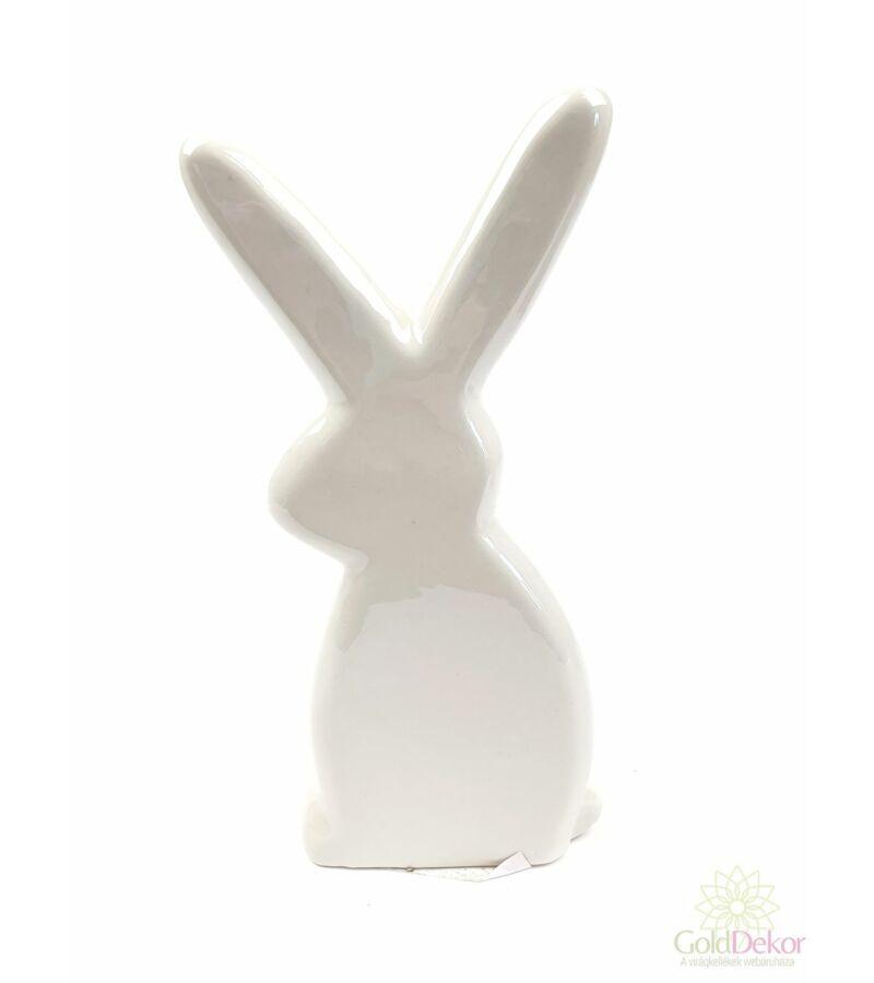 Gyöngyházas nyuszi figura*21 cm - Tört fehér
