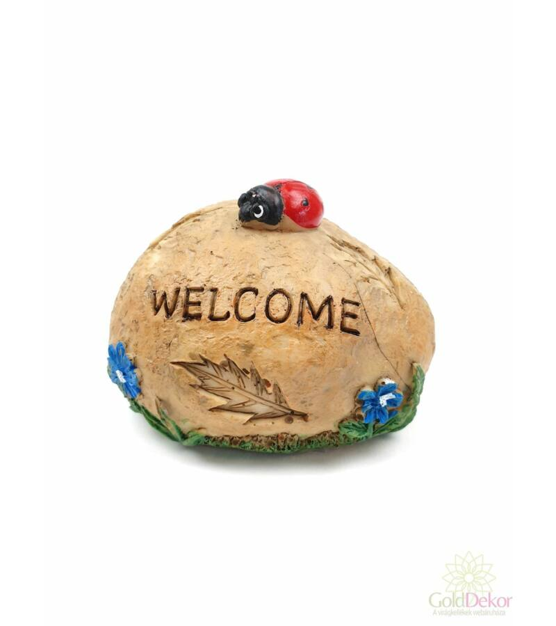 Welcome katicás kő - Piros