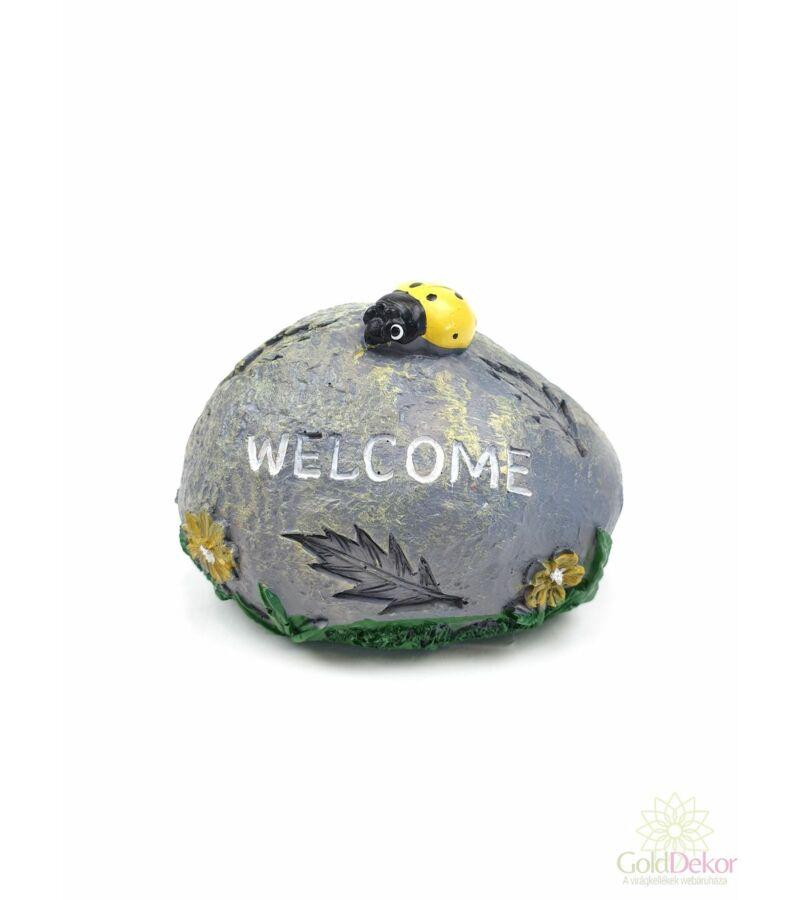 Welcome katicás kő - Sárga