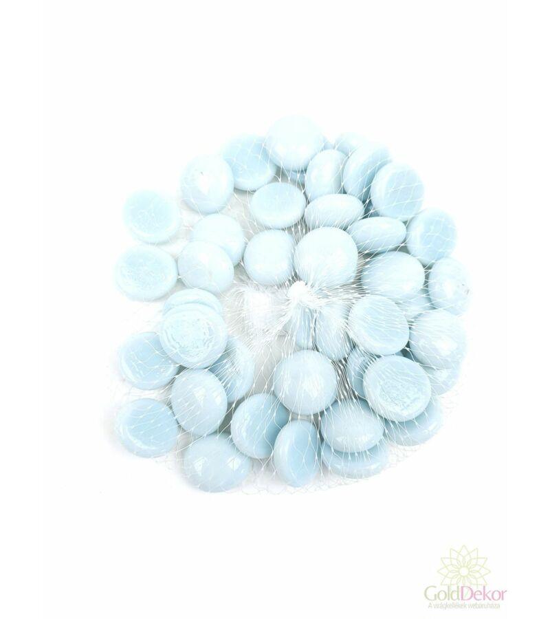 Dekor üveg kavics - Gyöngyház fehér