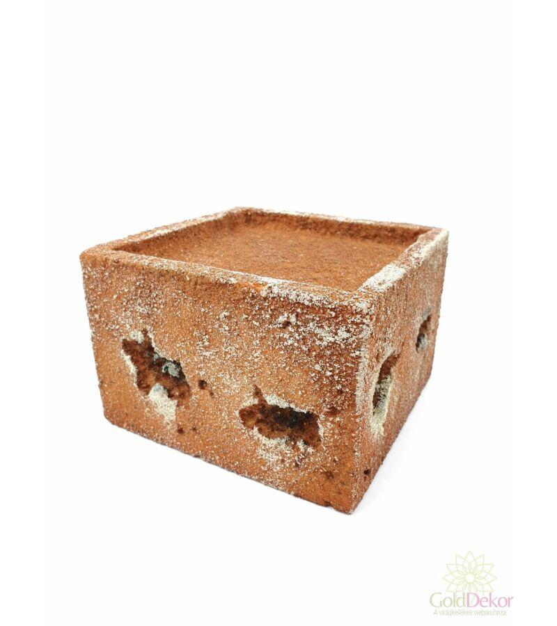 Tűzhető műkő nagy kocka - Világos barna