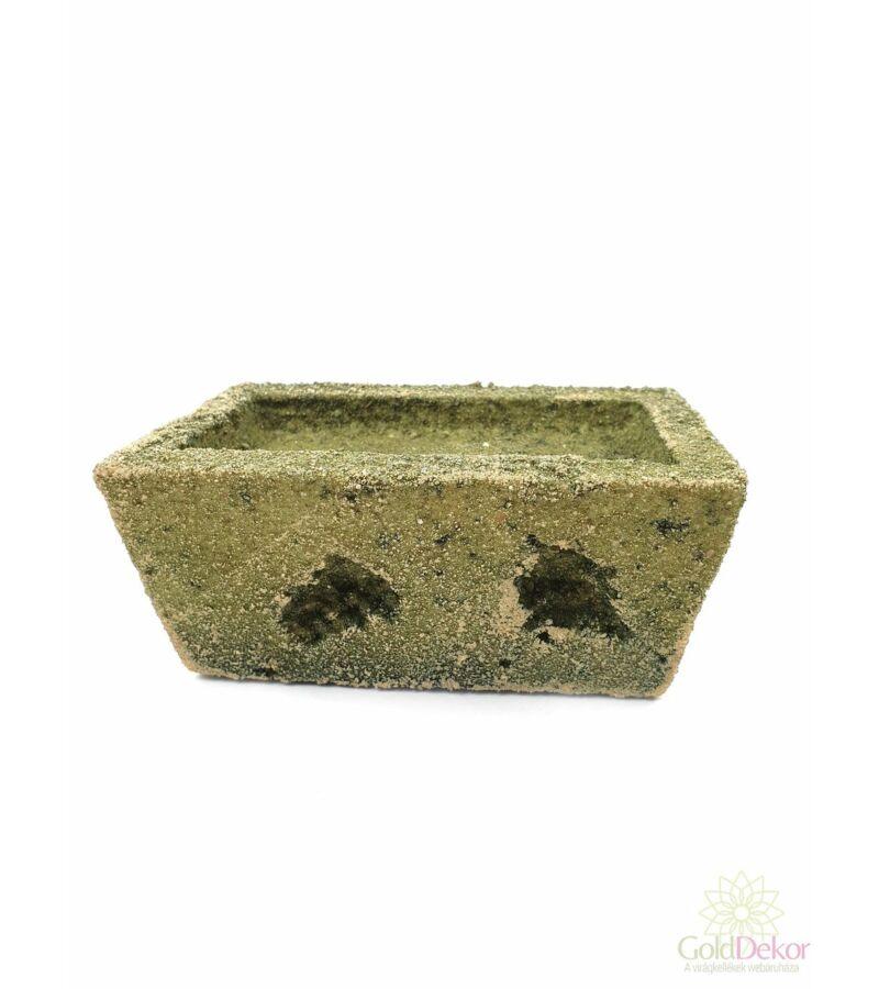 Tűzhető műkő kis tégla - Zöld