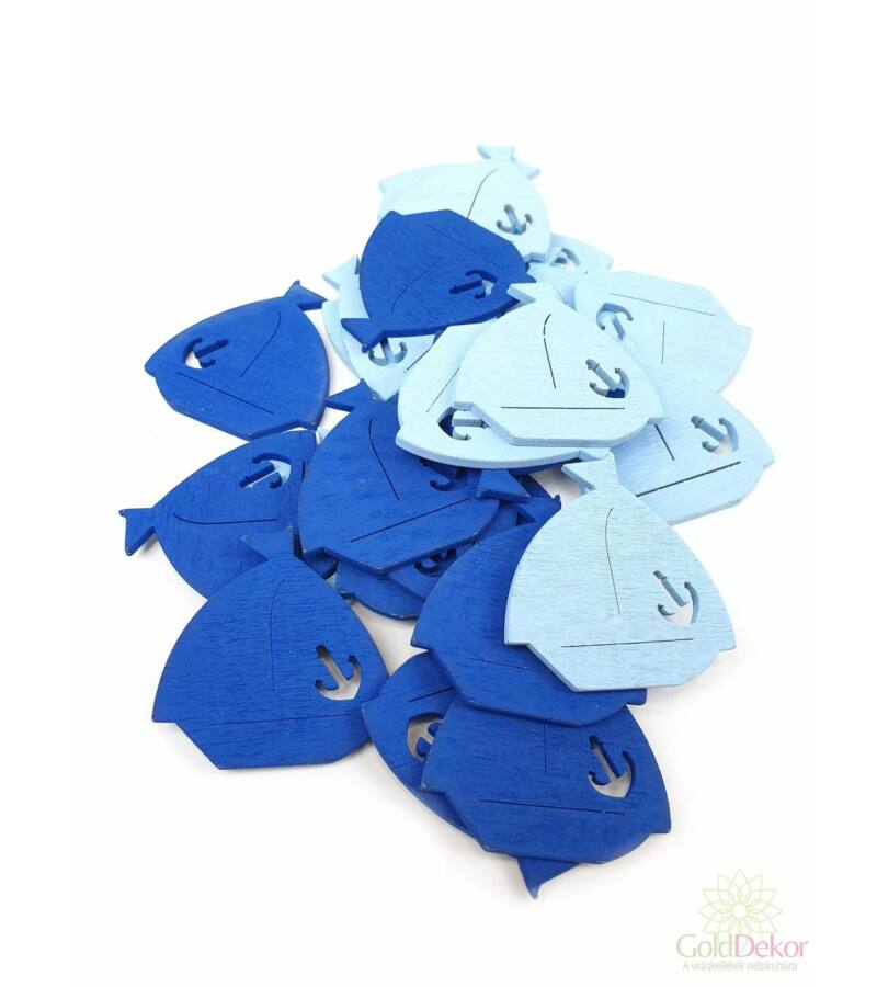 Nyári fadekor - Horgonyos hajó - kék mix