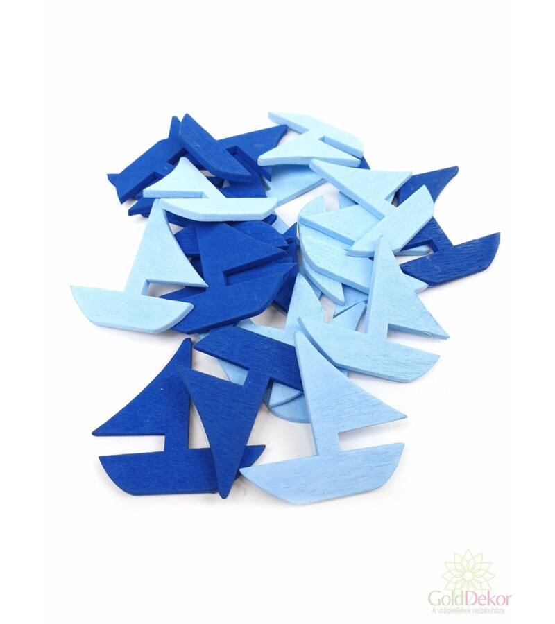 Nyári fadekor - Vitorlás - kék mix