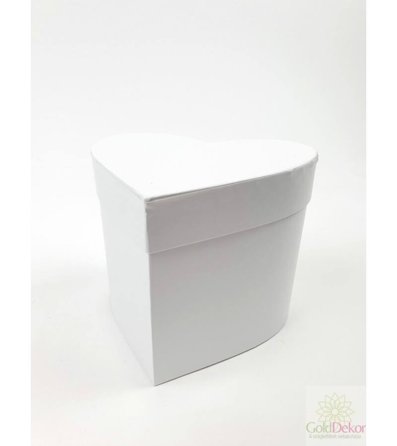 Szív doboz kicsi - Fehér