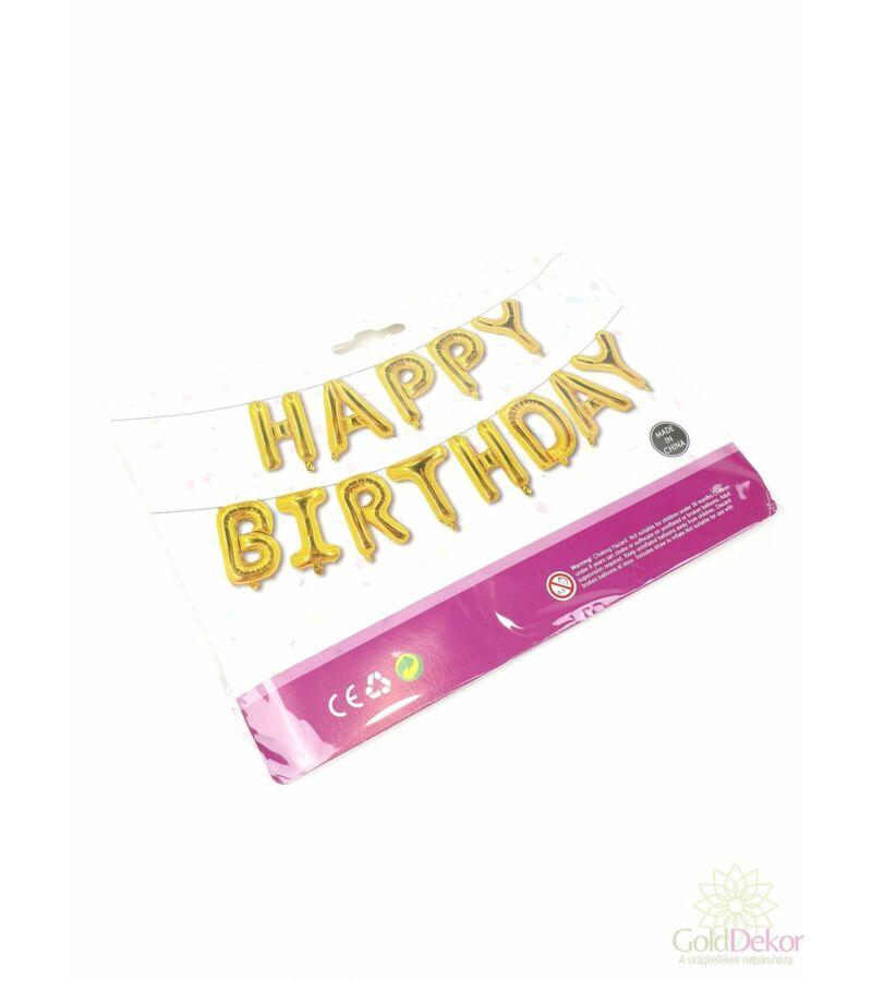 Happy Birthday lufi felirat - Arany