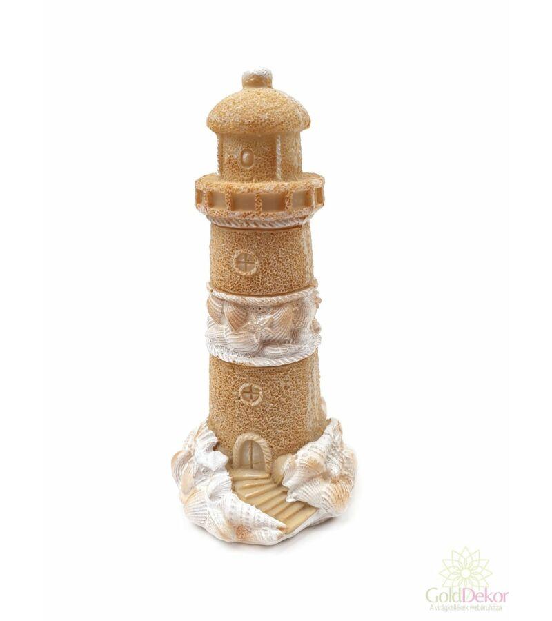 Homokvár figura - Világítótorony