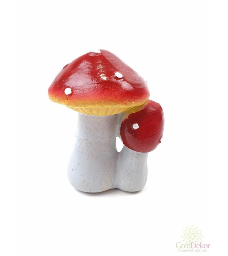 Piros kalapos pöttyös gomba figura - Páros