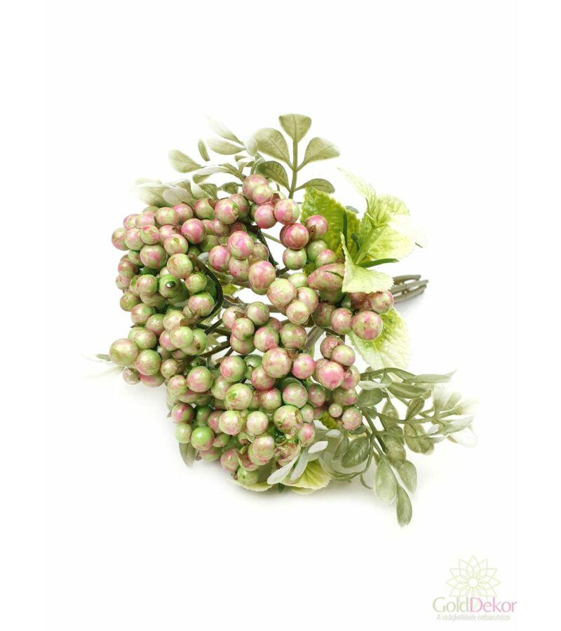Bogyós dekor csokor - Rózsaszín