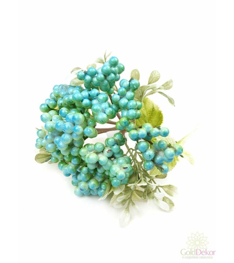 Bogyós dekor csokor - Kék
