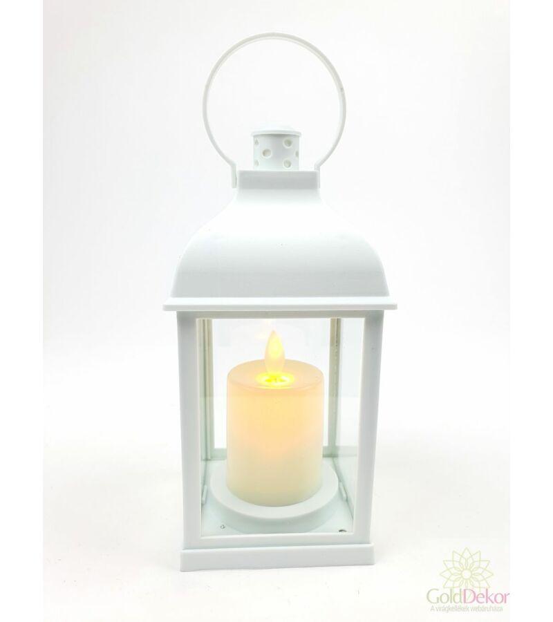 Led lámpás mozgó gyertyalánggal - Fehér