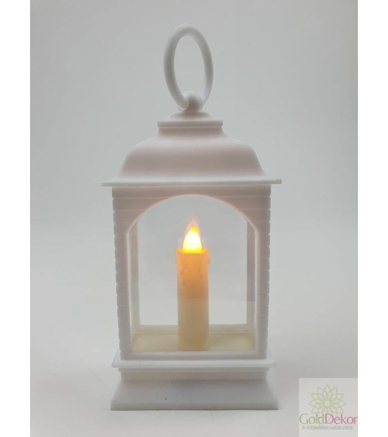 Led lámpás gyertyával - Fehér