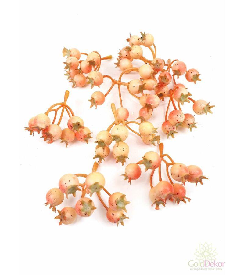 7 ágas színes csipke bogyó*9 - Cirmos barack