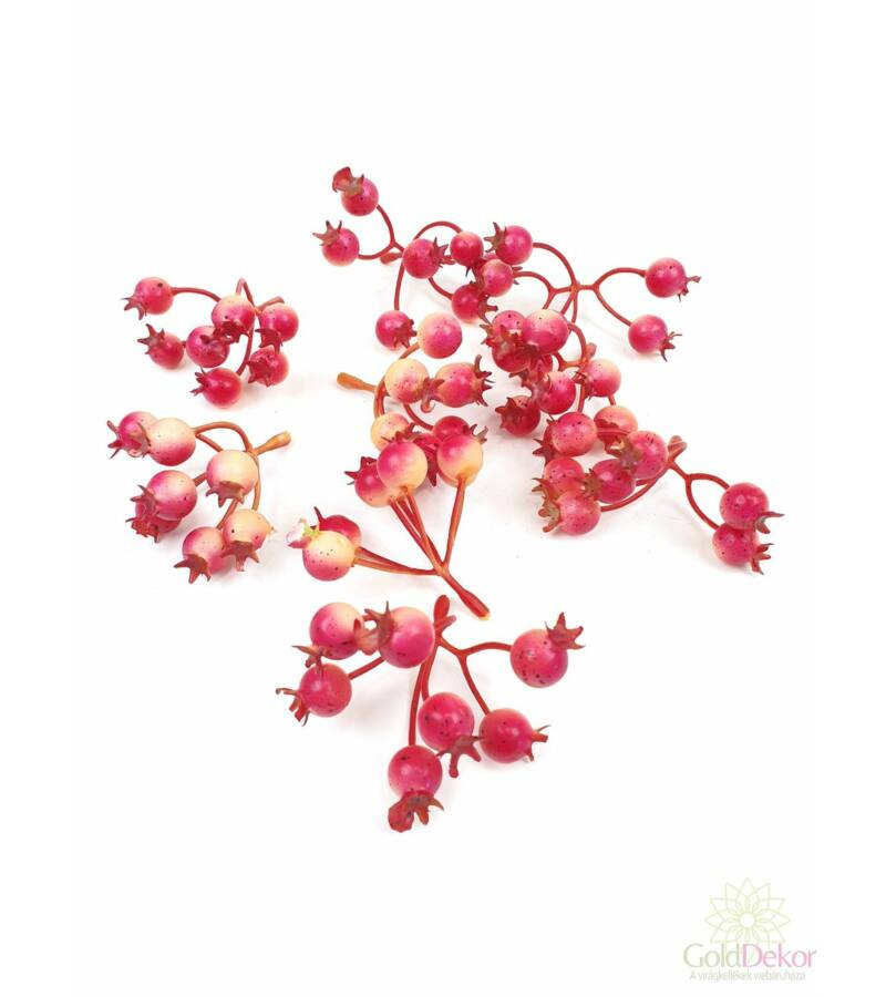 7 ágas színes csipke bogyó*9 - Cirmos pink