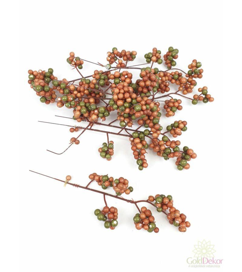 6 ágas őszi fürt bogyó*9 - Barna-zöld