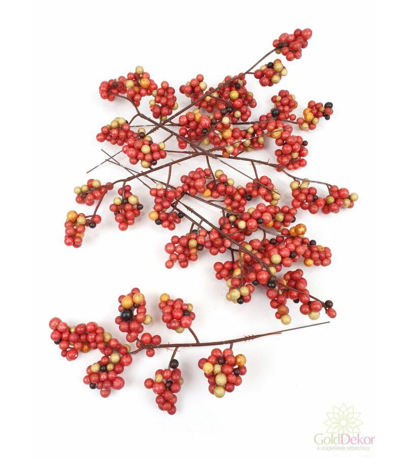 6 ágas őszi fürt bogyó*9 - Piros mix
