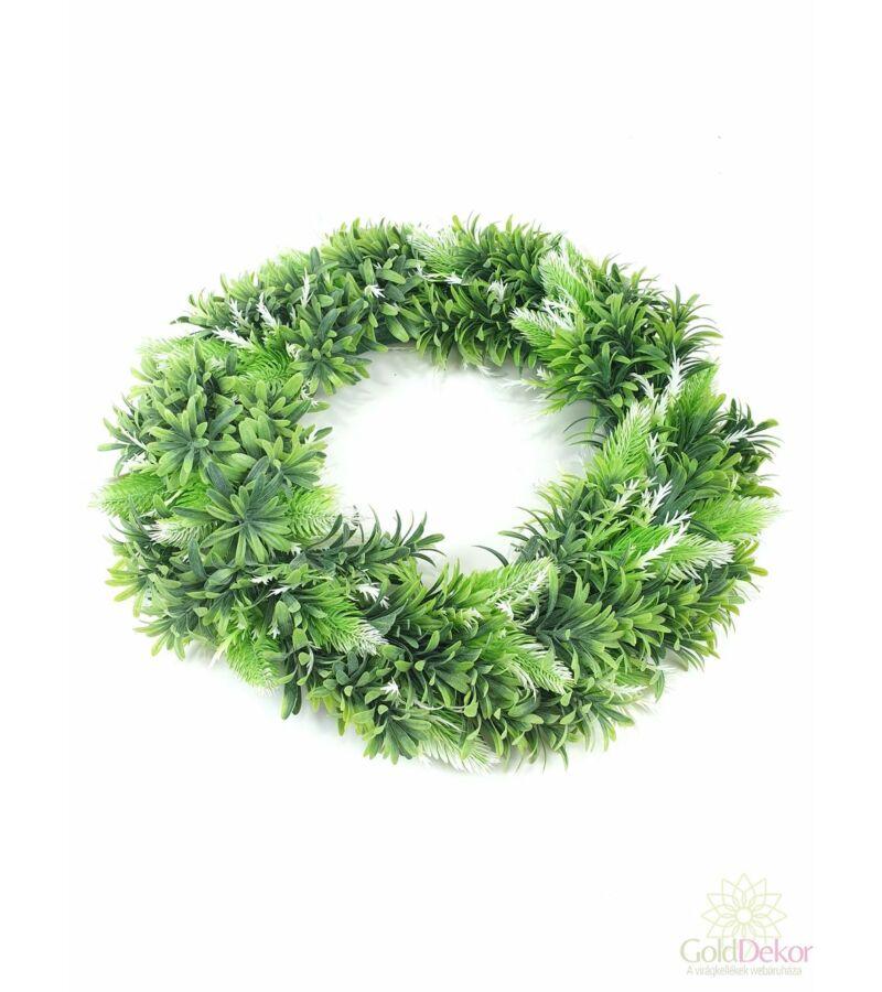 Műzöld koszorú alap 44 cm G