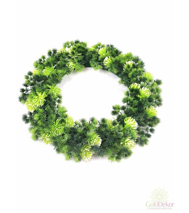 Műzöld koszorú alap 44 cm D