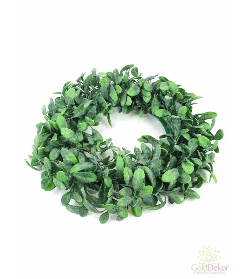 Műzöld koszorú alap 44 cm H
