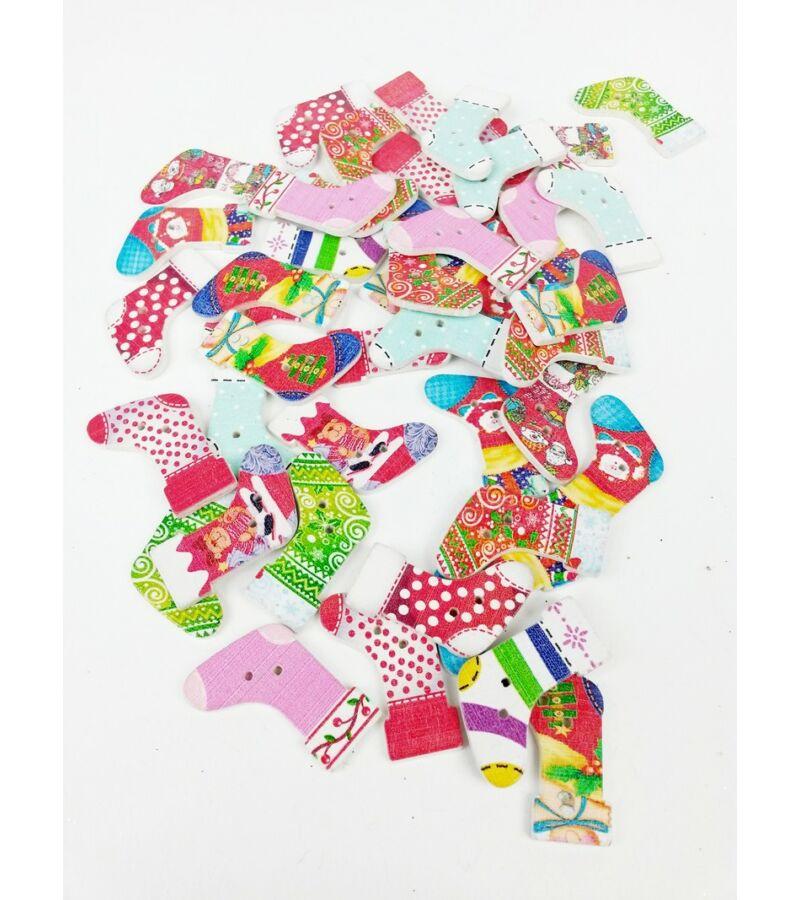 Karácsonyi zokni gomb
